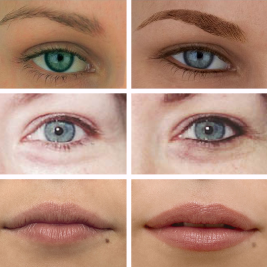 Semi-Permanent-Make-Up Eyebrows, Eyeliner and Lips